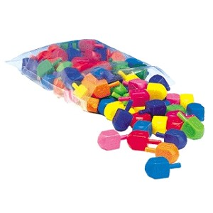 Dreidels Colorful - Plastic